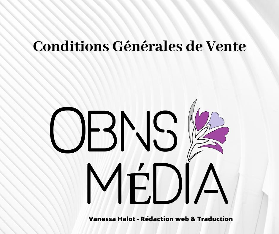Conditions Générales de Vente Vanessa Halot